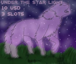 Under the star light YCH  (Open) by Gerundive