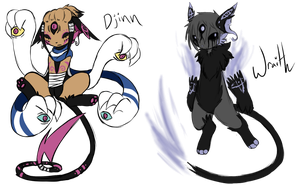 .:RH - Stock Predecessors - Djinn and Wraith:. by GrimmTail