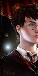 Harry Potter Bookmark -2018- by KaseiArt