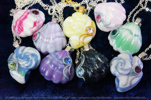 Seashell Pendants - New Snail Shells by JSmallDragon