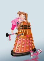 doctor who: the girl prefer a pink dalek by DameEleusys