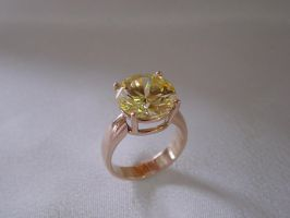 Yellow cz ring in rose gold by biltongboy