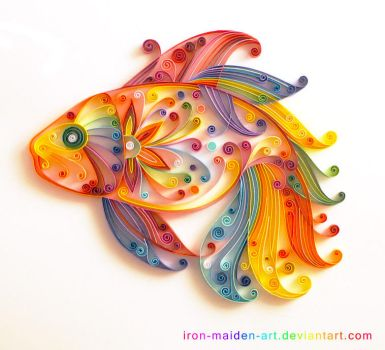 Quilling fish by UsoKei