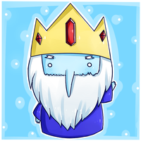 Adventure time fanart: Ice king by chocomax