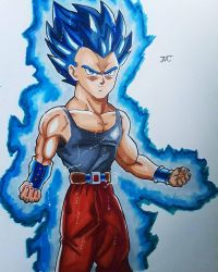 J.C. - Ashen Super Saiyan Blue (Dragon ball Series by MosakeJarakio