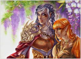 Demireyna and Leytwey by Nuaran