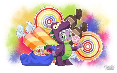 Spike the Candy Dragon by mysticalpha