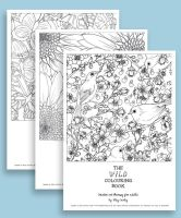 The Wild Colouring Book (Free Samples) by megcowley