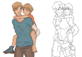 Piggyback Redraw (wip) by JVA-Doodles