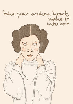 'As the departed Princess Leia once told me' by clementineandme
