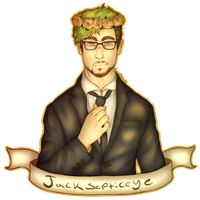 Jacksepticeye - Suit and flowers by Evertooth