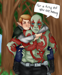 Drax and I by Cheezitss