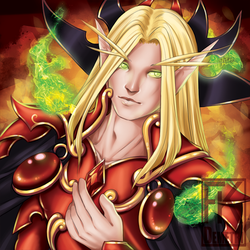 WoW Baddies Buttons - Kael'thas by FKDemetri