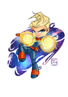 Captain Marvel Chibi by wooserr
