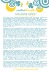 CSS Journal Contest Entry by rememberrevolution