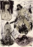 Conan the Barbarian - sketches by DenisM79