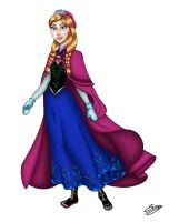 Disney Princess - Anna by ElyGraphic