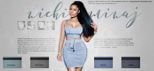 free design/header (Nicki Minaj) by designsbyroth