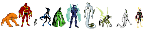 1 Set of Alien Forms by Bentenny10