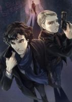 Sherlock and John in 2.5D by arashicat
