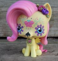My Little Pony FIM Day of the Dead Fluttershy by AdeCiroDesigns