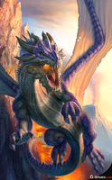Final War 5 Dragons Purple Dragon by effenndee