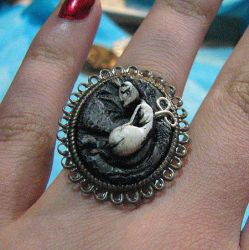 Wind Up Doll Sculpture Ring by asunder