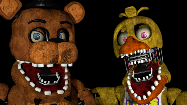 Withered Freddy VS. Withered Chica (Remastered) by zabuza2000momochi