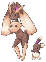 Lopunny and Buneary by Poo7878