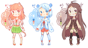 Kemonomimi Batch Adopts 2 ! [CLOSED] by mieille