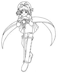 Card Captor Sakura line art by Kase-dog