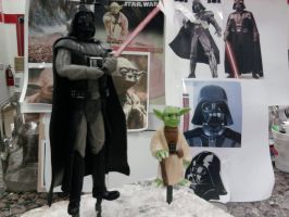 Star Wars Darth Vader and Yoda Sculptures by Speezi