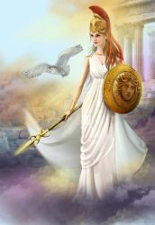 Athena . Illustration by AlenaLazareva