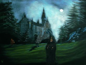 Any night behind Hogwarts by WilliamSnape