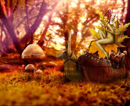 Autum fairy by LittleFairyArt