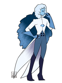 [SU OC] Hope Diamond- The king of kings by Flamingo-sama