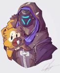 Shrike Ana and Bidoof by FizzyBoba