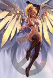 overwatch mercy pillow by jiuge