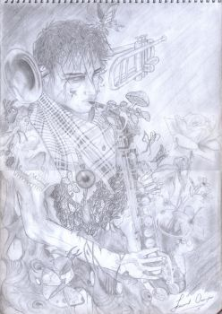 saxophonist by leocampo