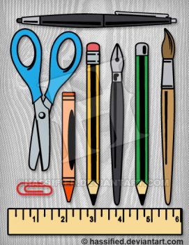 Back 2 School Supplies by hassified