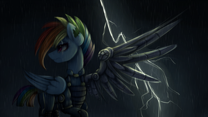 {MLP} Fallout Rainbow Dash Wallpaper full HD by NutellaAkaNutella