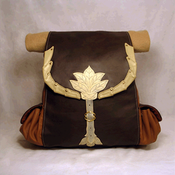 Leather Hobbits Backpack by Svetliy-Sudar