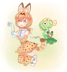Serval and Keroro by Tinglechan