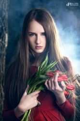 Girl With Tulips by danperet