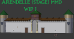 Arendelle Castle - WIP 1 - MMD stage by King-Of-Snow