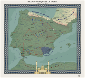 HAoE: Islamic Conquest of Iberia by zalezsky