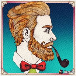 Man with a Pipe by Wolfette15