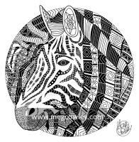 Imperial Zebra (The Exotic Colouring Book) by megcowley