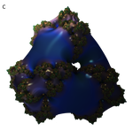Mandelbulb3D Twisted Prism Blue Smooth by 1Bryan1