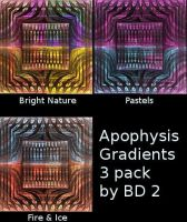 BDs Apophysis Gradients 3 pack by Fractal-Resources